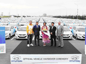 Hyundai передала для Универсиады в Казани 1 048 автомобилей