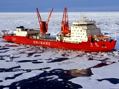 Самый большой в мире неядерный ледоход китайский «Снежный дракон». Фото: Stefan Nagtegaal&Steven Wittens/WordPress.com