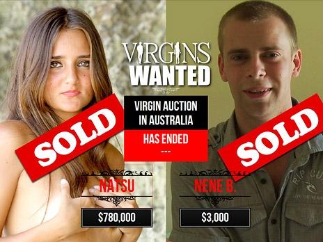 Фото экрана сайта virginswanted.com.au